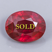 Thai Ruby for Vedic Astrology (Jyotish) and Ayurveda