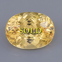 Fine Untreated Yellow Topaz for Vedic Astrology (Jyotish) and Ayurveda